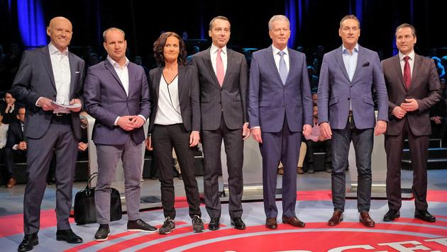 """Die versammelte Runde im """"Bürgerforum"""" (Bild: ORF)"""