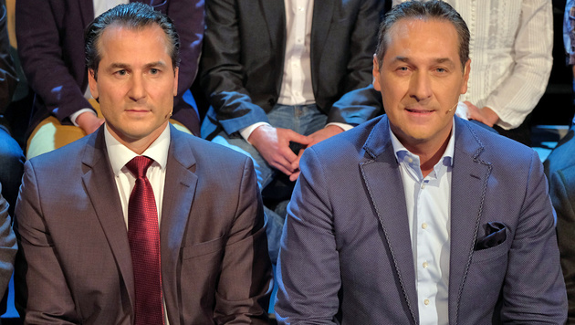 Lugar (li.) und Strache (Bild: ORF)
