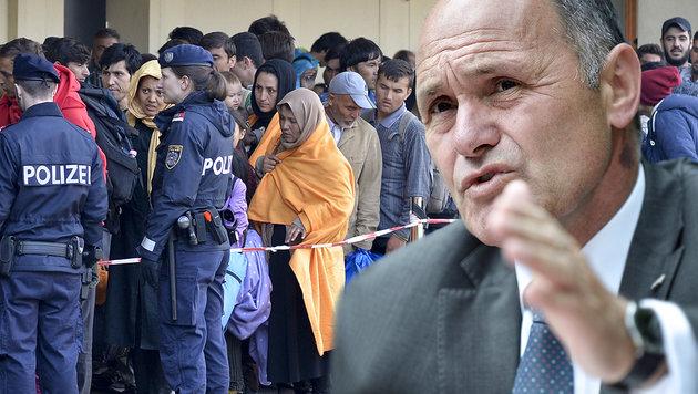 """Sobotka: """"90% der Asylberechtigen sind arbeitslos"""" (Bild: APA/HANS KLAUS TECHT, APA/HERBERT NEUBAUER)"""