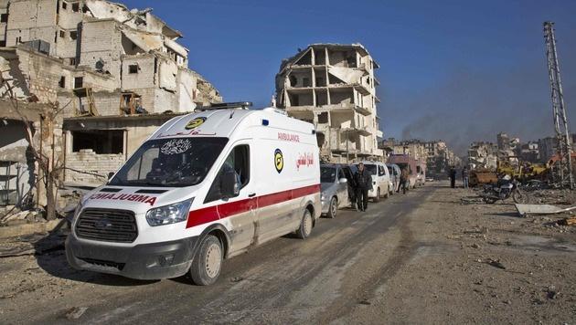 """Assad verkündet """"Befreiung"""" von Aleppo (Bild: APA/AFP/KARAM AL-MASRI)"""