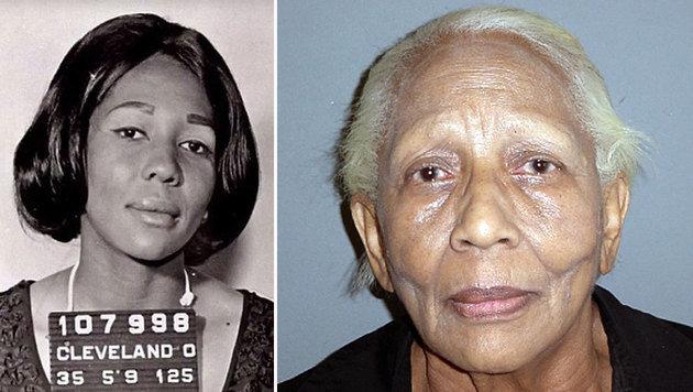 Doris Payne im linken Bild bei einer Verhaftung im Mai 1965, rechts vor wenigen Jahren (Bild: EPA, ASSOCIATED PRESS)