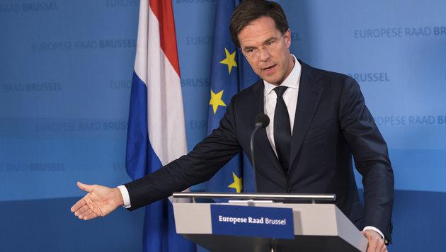 Der niederländische Ministerpräsident Mark Rutte (Bild: Associated Press)