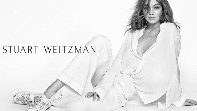 Gigi Hadid wirbt für Stuart Weitzman. (Bild: Stewart Weitzman)
