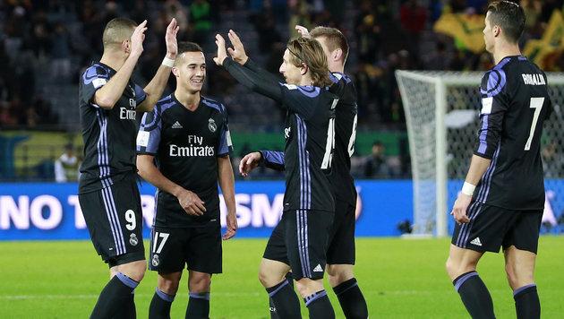 Real Madrid steht im Finale der Klub-WM! (Bild: AP)
