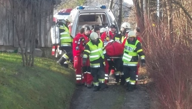 Beim Unfall wurde Gerhard Rindler lebensgefährlich verletzt. (Bild: Feuerwehr Arnoldstein)