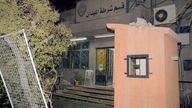 In dieser Polizeistation fand der Anschlag statt. (Bild: APA/AFP/SANA/HO)