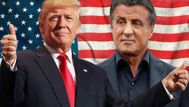 """Steigt """"Rocky"""" jetzt für Trump in den Polit-Ring? (Bild: AFP/JOE RAEDLE, AP, thinkstockphotos.de)"""