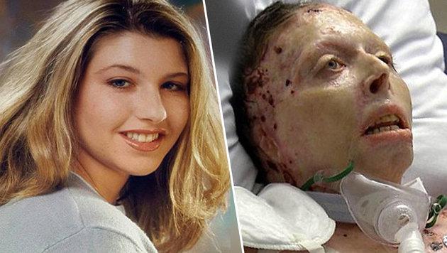 Judy Malinowski vor (links) und nach (rechts) der schrecklichen Tat (Bild: facebook, WSYX)