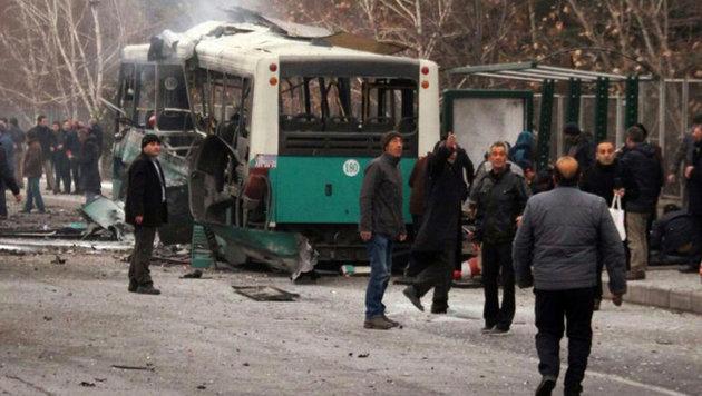 Türkei: 13 Tote bei Anschlag in Großstadt Kayseri (Bild: AP/IHA)