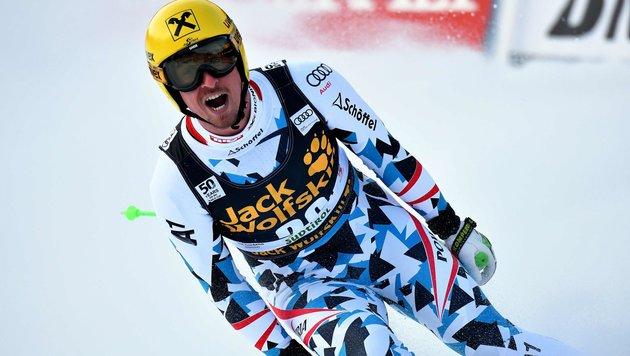 Sensationell! Max Franz gewinnt Abfahrt in Gröden (Bild: APA/AFP/ALBERTO PIZZOLI)