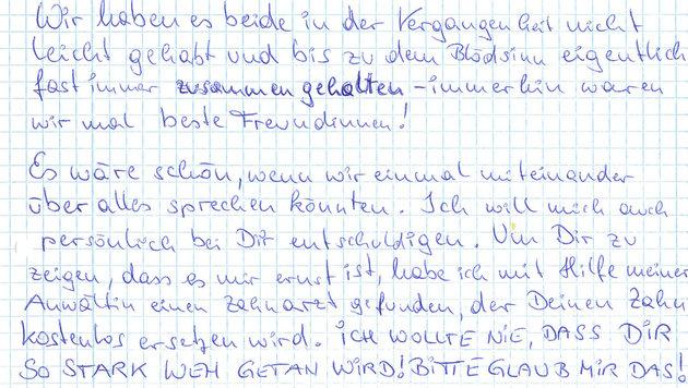 """""""Ich wollte nie, dass dir so stark wehgetan wird"""" (Bild: """"Krone"""", Astrid Wagner)"""