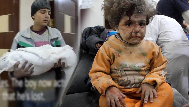 """Aleppo: """"Die Kinder haben aufgehört zu weinen"""" (Bild: twitter.com)"""
