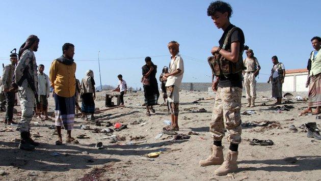 Dutzende Soldaten bei Selbstmordattentat getötet (Bild: APA/AFP/Saleh al-Obeidi)