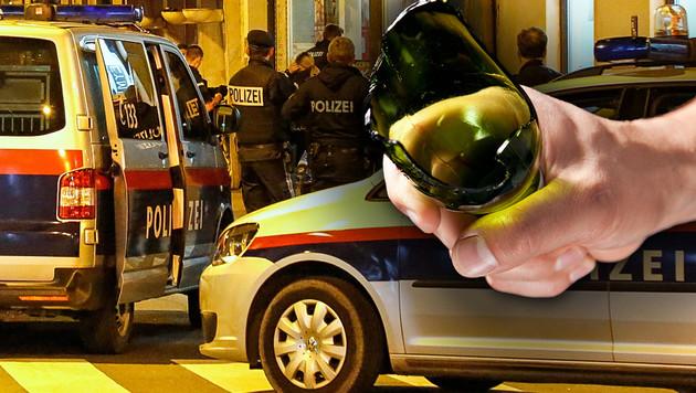 Der Afghane stach mit einer abgebrochenen Glasflasche auf seinen Kontrahenten ein. (Bild: Thinkstockphotos.de, MARKUS TSCHEPP)