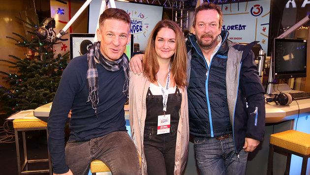 """Andi Knoll, Gabi Hiller und Robert Kratky sind heuer für das Ö3-""""Weihnachtswunder"""" verantwortlich. (Bild: """"Krone"""")"""