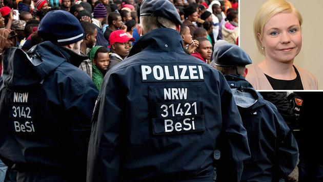 Christine Höxtermann (kleines Bild) (Bild: APA/AFP/Guillermo Arias, APA/AFP/Patrik Stollarz, DPolG)