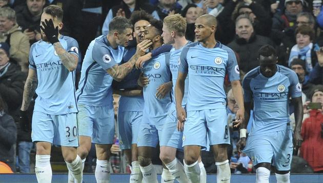 Manchester City schlägt Arsenal im Topspiel 2:1 (Bild: AP)