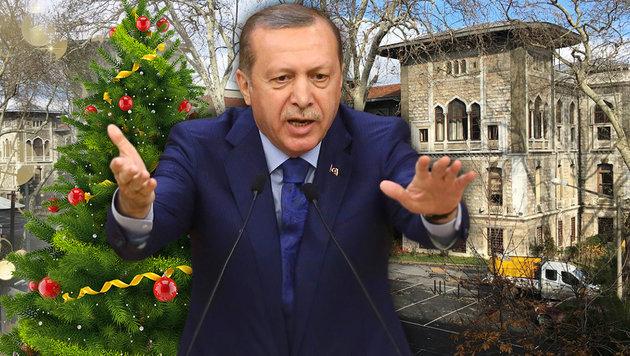 Der türkische Präsident Recep Tayyip Erdogan; das Elitegymnasium Istanbul Lisesi (Bild: APA/dpa, thinkstockphotos.de, APA/AFP/Adem Altan)