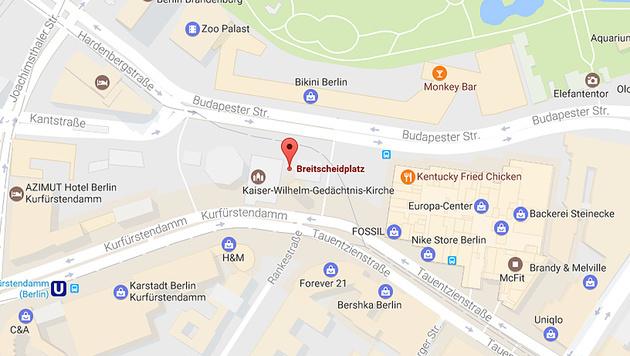Der Tatort am Berliner Breitscheidplatz (Bild: Google Maps)