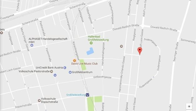 Der Überfall ereignete sich nahe der Großfeldsiedlung im 21. Bezirk. (Bild: Googlemaps.com)