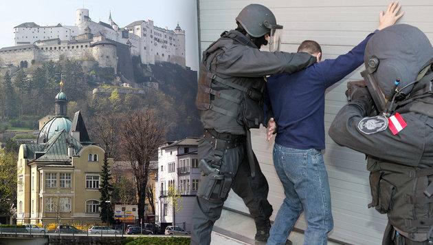Verhafteter Marokkaner plante Anschlag in Salzburg (Bild: APA/HELMUT FOHRINGER, Andi Schiel)