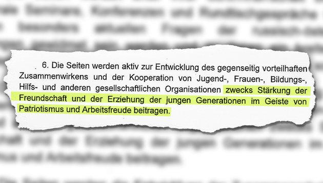 FPÖ folgt dem Lockruf des russischen Bären (Bild: Kronen Zeitung)