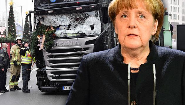 Deuschlands Bundeskanzlerin Angela Merkel (Bild: AFP/John MacDougall/ Tobias Schwarz)