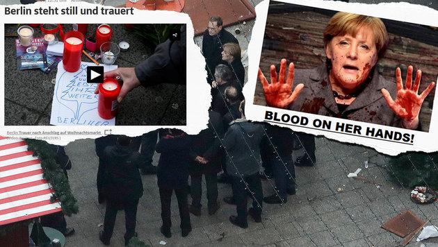 """""""Deutschland wird nicht mehr dasselbe sein"""" (Bild: drudgereport.com, sueddeutsche.de, AP)"""