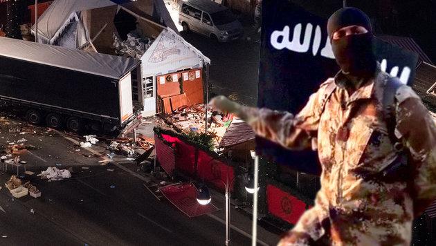 IS bekennt sich zu Anschlag auf Weihnachtsmarkt (Bild: APA/dpa/Bernd von Jutrczenka, Twitter)