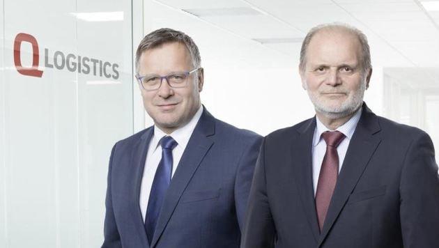 Geschäftsführer Christian Braunstein (li.) und der neue Q-Logistics-Chef, Johann Gaia (re.). (Bild: Q-Logistics)