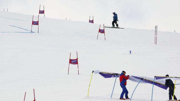 Starker Wind! Riesentorlauf der Damen abgesagt (Bild: AP)