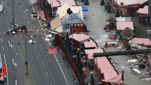Der Berliner Weihnachtsmarkt nach dem verheerenden Anschlag (Bild: AFP/ODD ANDERSEN)