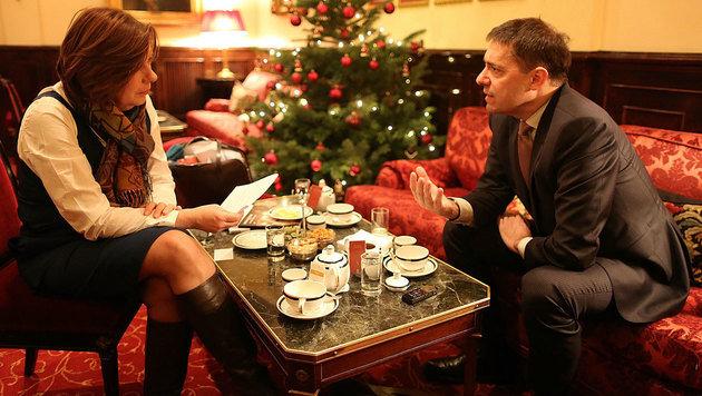 Bogdan Roscic im Gespräch mit Conny Bischofberger (Bild: Gerhard Bartel)