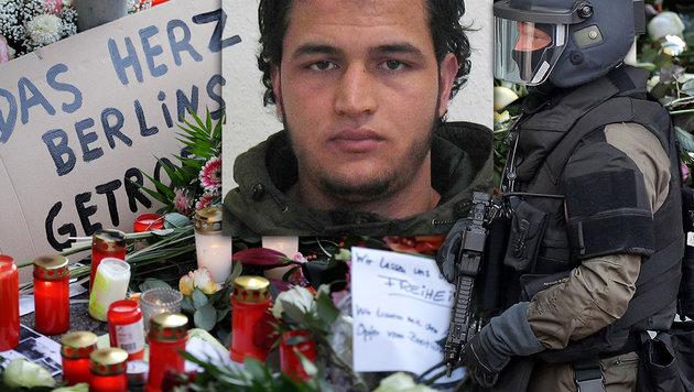 Berlin: 100.000 € für Hinweise zu Terroristen (Bild: AP, Deutsche Bundespolizei, APA/dpa/Chris Gossmann)