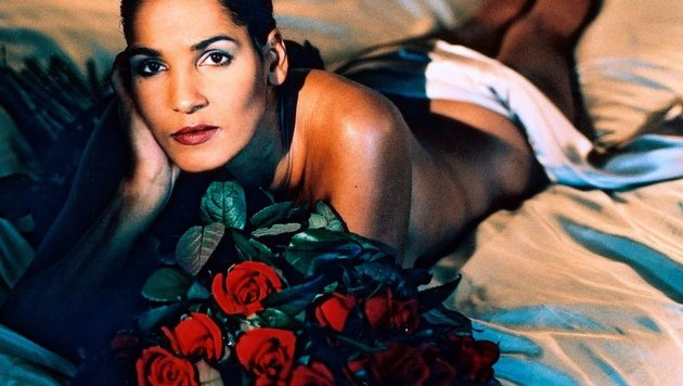 Nadja Abdel Farrag bei einem Fotoshooting im Jahr 2001 (Bild: Werner Gritzbach/face to face)