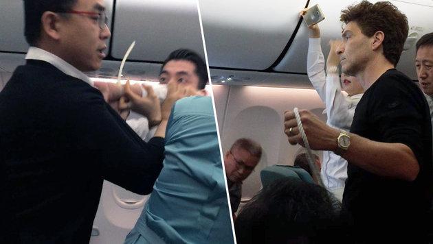 Richard Marx überwältigt durchgedrehten Passagier (Bild: Twitter/Richard Marx)