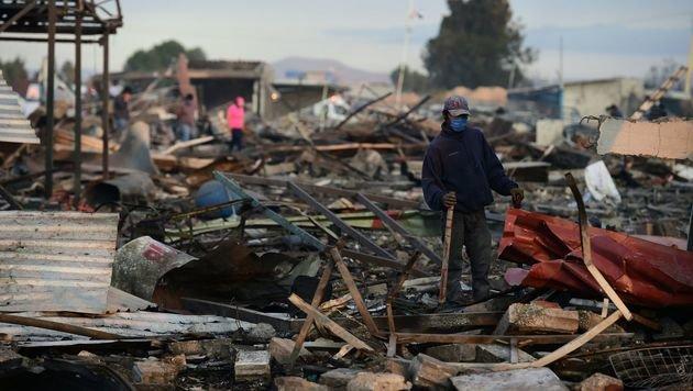 Mega-Explosion auf Markt fordert 31 Todesopfer (Bild: AFP)