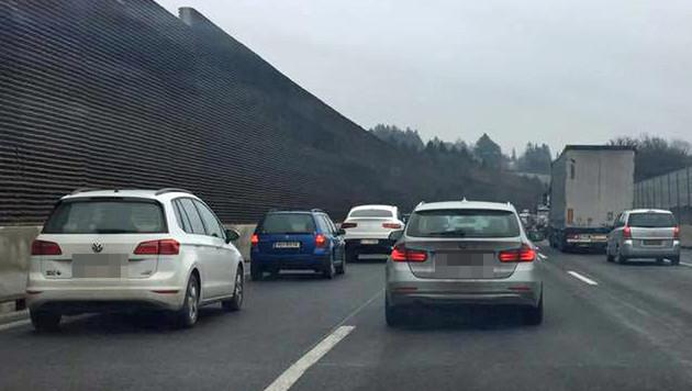 Wilde Verfolgungsjagd und Schüsse auf Autobahn (Bild: Charlotte Sequard-Base)