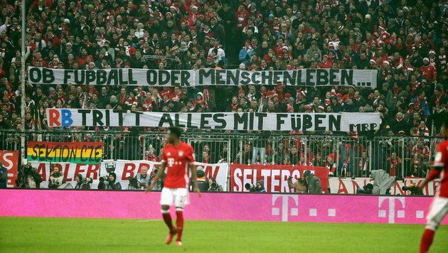 """Bayern-Fans wütend auf RB-Klubs: """"Verpisst euch!"""" (Bild: GEPA)"""