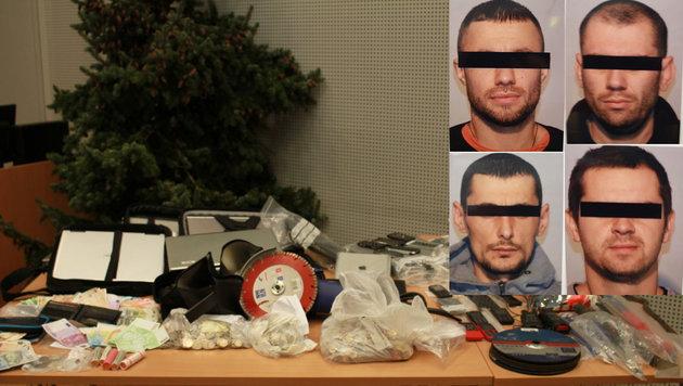 Die vier moldawischen Einbrecher hatten  jahrelang Firmentresore geplündert. (Bild: Christoph Gantner)