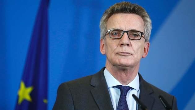 Deutschlands Innenminister Thomas de Maiziere (Bild: AFP)