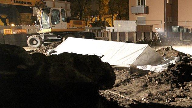 Der Fundort der Fliegerbombe in Augsburg (Bild: APA/dpa)