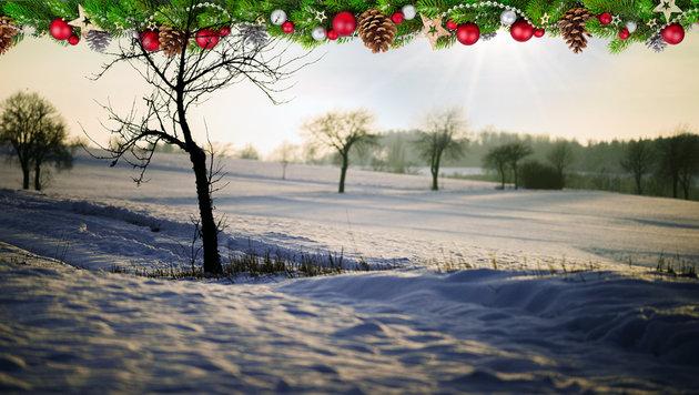 Das Wetter zu Weihnachten: Es wird mild und sonnig (Bild: thinkstockphotos.de, dpa/Nicolas Armer)