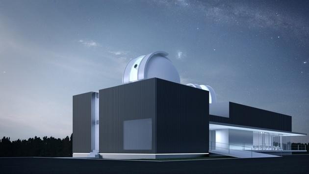 So soll die neue Sternwarte am Salzburger Haunsberg aussehen. (Bild: Haus der Natur/Arch.: Christian Hoffmann)
