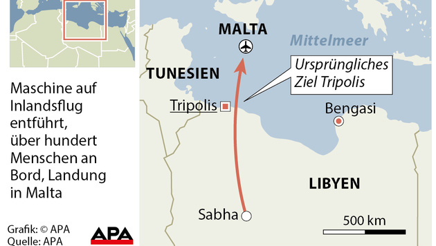 Malta: Flugzeugentführung unblutig beendet (Bild: APA)