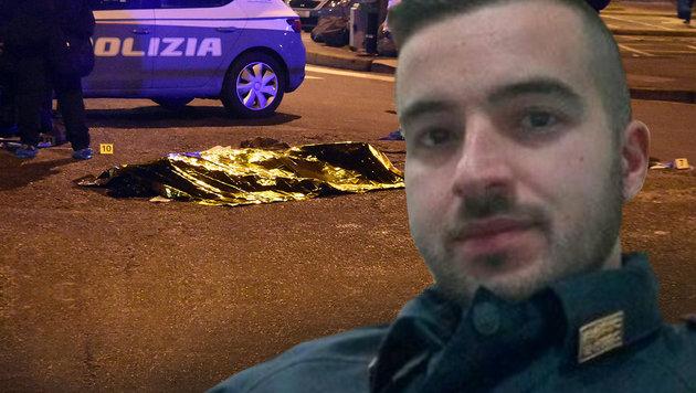 Das ist der Held von Mailand: Luca Scata (29) (Bild: twitter.com, AP)