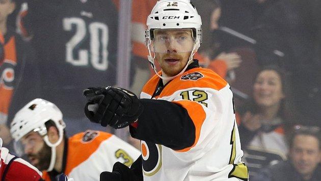Schock für Raffl: Verletzung bei Flyers-Niederlage (Bild: APA/AFP/GETTY IMAGES/Patrick Smith)