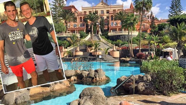 In diesem Traumhotel auf Teneriffa wohnte Thiem - und trainierte auch mit Philipp Kohlschreiber. (Bild: Krone)