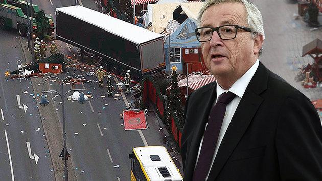 Juncker lehnt Kurswechsel in EU-Asylpolitik ab (Bild: AFP/FREDERICK FLORIN, AFP/ODD ANDERSEN)