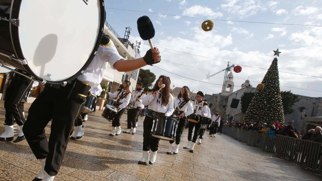 Tausende Christen feiern im Heiligen Land (Bild: AFP or licensors)